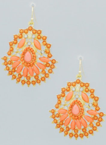 Fashion Earrings Coral