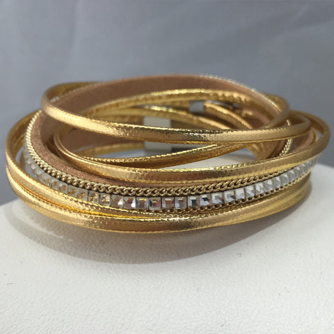 Gold Leather Bling Wrap