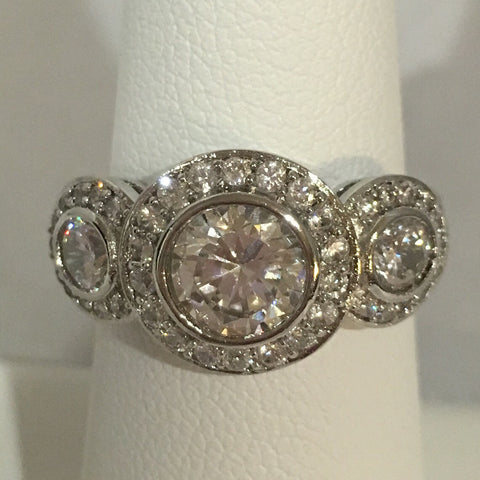 Sterling Silver CZ Travel Ring