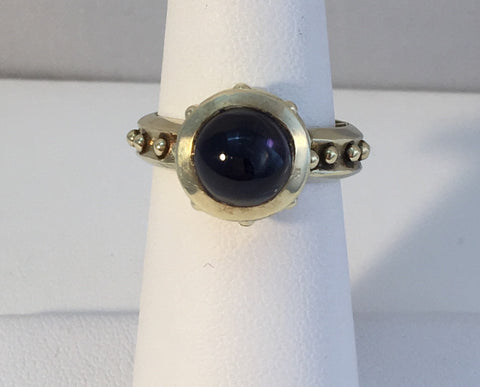 14k Green Gold With Iolite Stone Ring