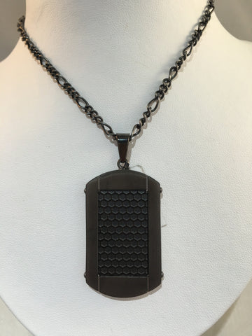 Black Stainless Dog Tag