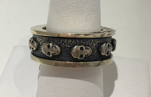 King Baby Skull Spinner Ring