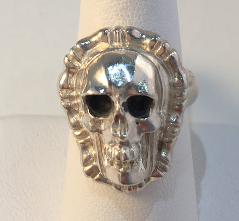 Sterling Handmade Skull Ring