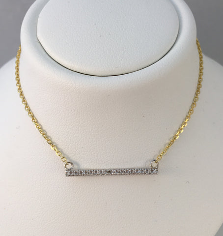 14k Two Tone Bar Necklace