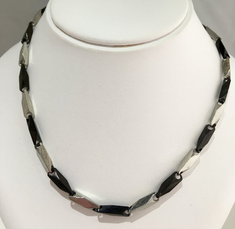 Black & Silver Link Chain