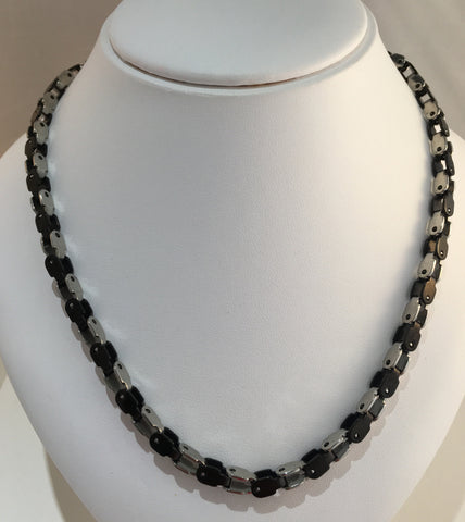 Stainless Steel Black & Silver Chain