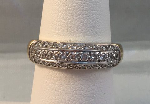 14k Yellow Gold & Diamond Band