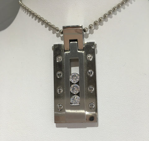 Mens CZ Dog Tag