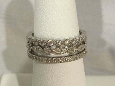 Sterling Silver CZ Stackable Rings