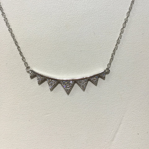 Sterling Silver Small Bar Spike Necklace