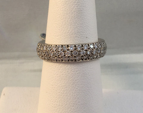 14k Diamond Pave Band