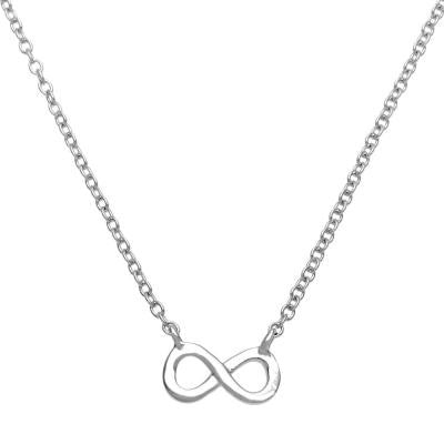 Sterling Tiny Infinity Necklace
