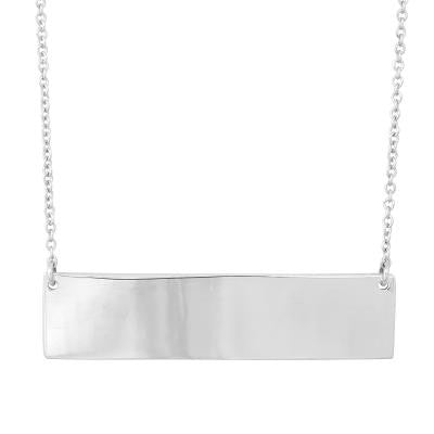 Sterling Silver Large Bar Necklace