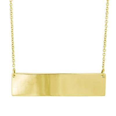 Gold Plated Large Bar Necklace
