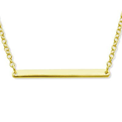 Gold Plated Thin Bar Necklace