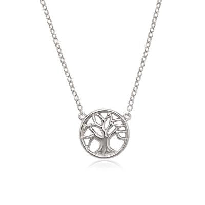 Sterling Tiny Tree Necklace