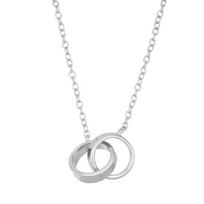 Sterling Interlocking Ring Necklace
