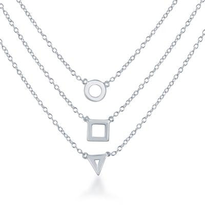 Triple Sterling Necklace
