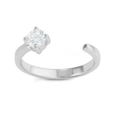 Sterling Silver Open CZ Ring