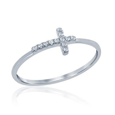 Sterling Silver Tiny Cross Ring