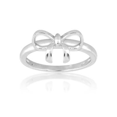 Sterling Silver Small Bow Ring