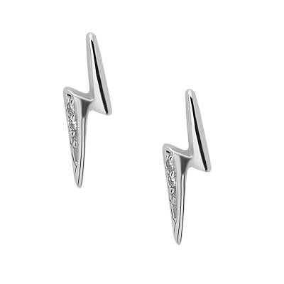 Sterling Silver Lighting Bolt Studs