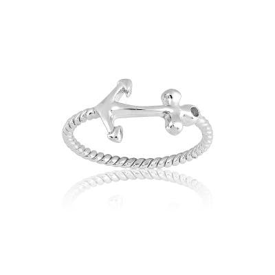 Sterling Silver Small Anchor Ring