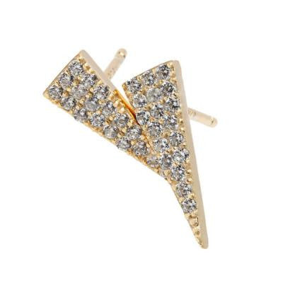 Sterling Silver Gold Plated Stud