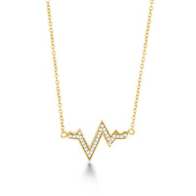 Gold Plated Heartbeat Necklace