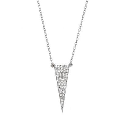 Sterling CZ Spike Necklace