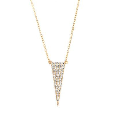 CZ Gold Spike Necklace