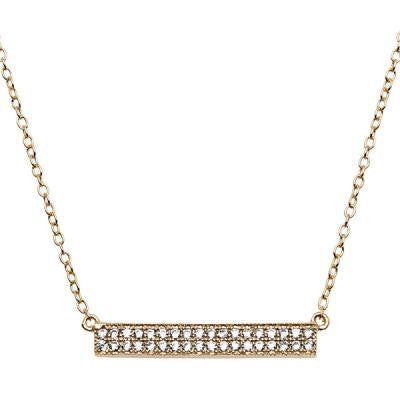 CZ Gold Bar Necklace