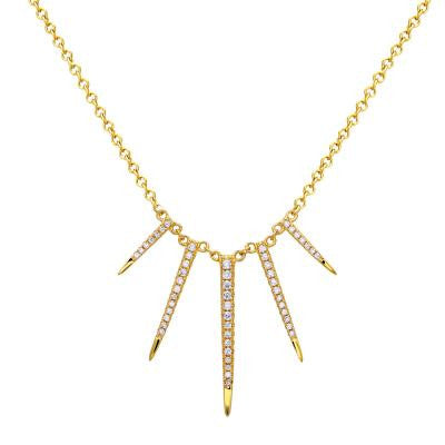 Gold Plated Spike Necklace