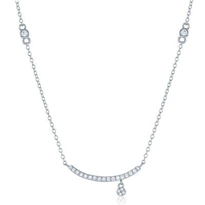 CZ Small Curve Necklace