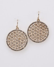 Fashion Earring Gold With Crystals