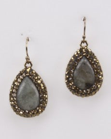 Fashion Earring With Labradorite Stones