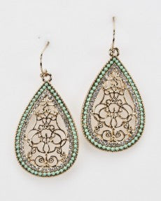 Minty Green Fashion Earrings
