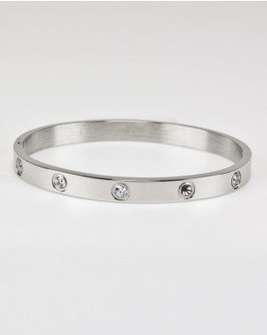 Stainless Steel CZ Bangle