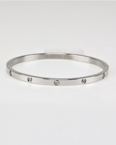 Stainless Cz Bangle