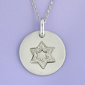 Diamond Jewish Star Necklace