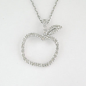 Diamond Apple Necklace