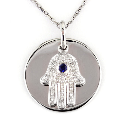Sterling Hamsa Necklace