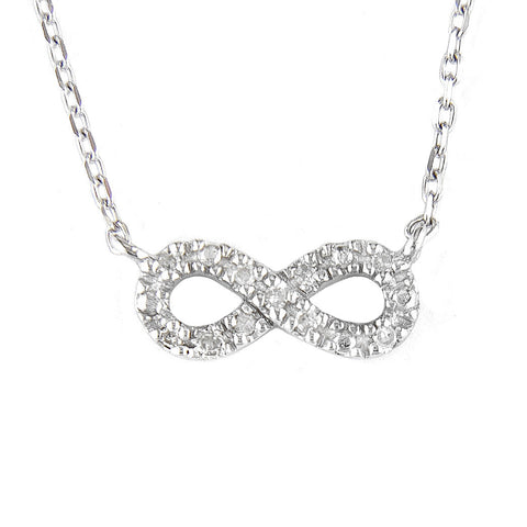 Small Diamond Infinity Necklace