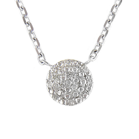 Small Diamond Pave Necklace