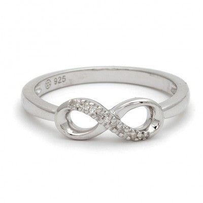 Sterling Diamond Infinity Ring