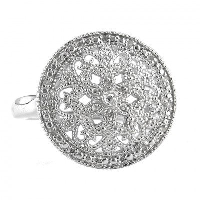 oval de euphoria sterling silver lis earrings diamond box fleur product circle jewelry the