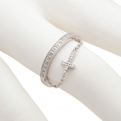 bracelets mens sterling diamond silver bracelet