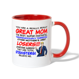 Trump Happy Mother's Day Mug - white/red