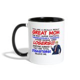 Trump Happy Mother's Day Best Mom Ever Mug - white/black