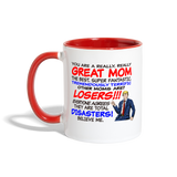 Trump Happy Mother's Day Best Mom Ever Mug - white/red